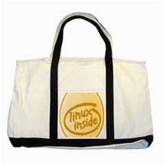 LINUX INSIDE EGG Two Toned Tote Bag