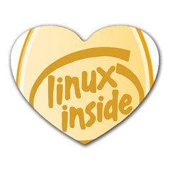 LINUX INSIDE EGG Mouse Pad (Heart)