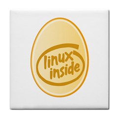 LINUX INSIDE EGG Face Towel