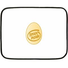 LINUX INSIDE EGG Mini Fleece Blanket (Two Sided)