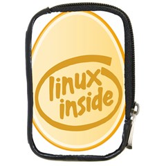 Linux Inside Egg Compact Camera Leather Case