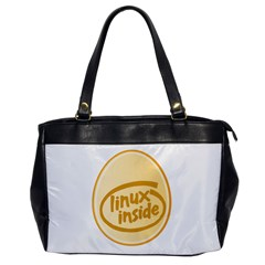 LINUX INSIDE EGG Oversize Office Handbag (One Side)