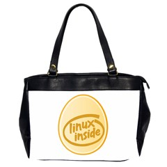 LINUX INSIDE EGG Oversize Office Handbag (Two Sides)