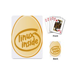 Linux Inside Egg Playing Cards (mini)