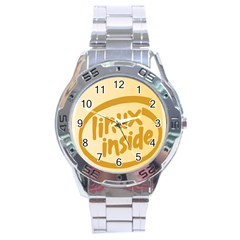 LINUX INSIDE EGG Stainless Steel Watch