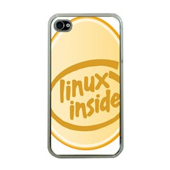 Linux Inside Egg Apple Iphone 4 Case (clear)