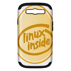 LINUX INSIDE EGG Samsung Galaxy S III Hardshell Case (PC+Silicone)