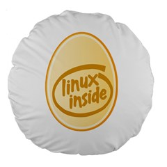 LINUX INSIDE EGG 18  Premium Round Cushion