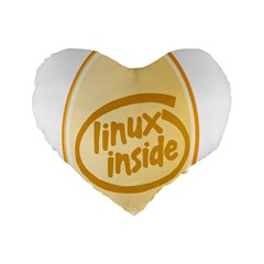 Linux Inside Egg 16  Premium Heart Shape Cushion