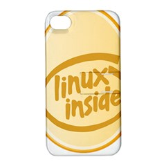 LINUX INSIDE EGG Apple iPhone 4/4S Hardshell Case with Stand
