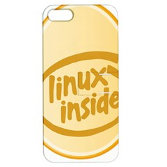 Linux Inside Egg Apple Iphone 5 Hardshell Case With Stand