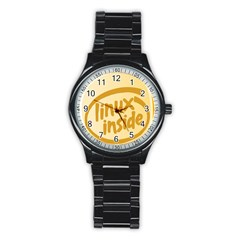 LINUX INSIDE EGG Sport Metal Watch (Black)