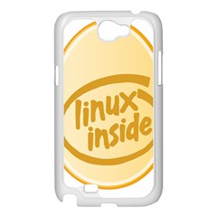 LINUX INSIDE EGG Samsung Galaxy Note 2 Case (White)
