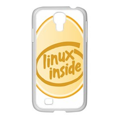 LINUX INSIDE EGG Samsung GALAXY S4 I9500/ I9505 Case (White)