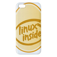 LINUX INSIDE EGG iPhone 5S Premium Hardshell Case