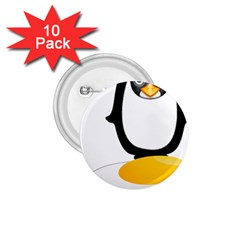 Linux Tux Pengion Oops 1.75  Button (10 pack)