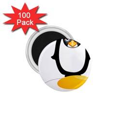 Linux Tux Pengion Oops 1 75  Button Magnet (100 Pack)