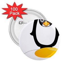 Linux Tux Pengion Oops 2.25  Button (100 pack)