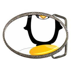 Linux Tux Pengion Oops Belt Buckle (oval)