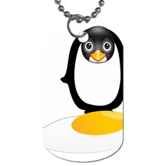 Linux Tux Pengion Oops Dog Tag (Two-sided)