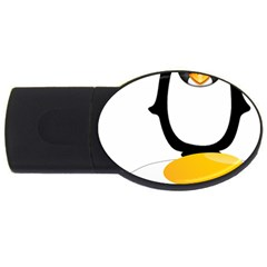 Linux Tux Pengion Oops 1GB USB Flash Drive (Oval)