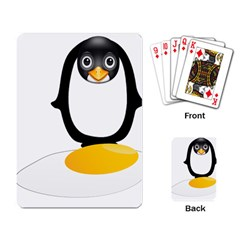 Linux Tux Pengion Oops Playing Cards Single Design