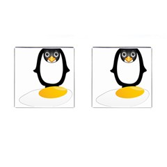 Linux Tux Pengion Oops Cufflinks (Square)