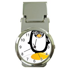 Linux Tux Pengion Oops Money Clip with Watch