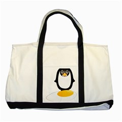 Linux Tux Pengion Oops Two Toned Tote Bag