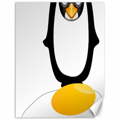 Linux Tux Pengion Oops Canvas 18  X 24  (unframed)