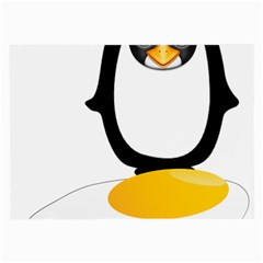 Linux Tux Pengion Oops Glasses Cloth (Large, Two Sided)