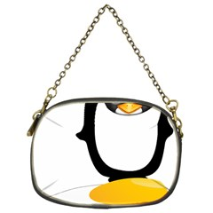Linux Tux Pengion Oops Chain Purse (One Side)