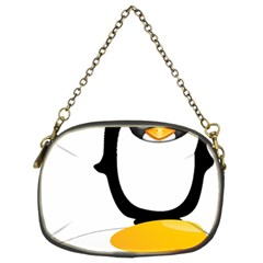 Linux Tux Pengion Oops Chain Purse (two Sided)