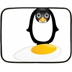 Linux Tux Pengion Oops Mini Fleece Blanket (Two Sided)