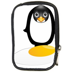 Linux Tux Pengion Oops Compact Camera Leather Case
