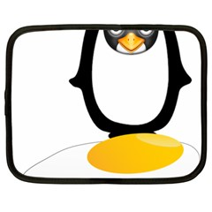 Linux Tux Pengion Oops Netbook Sleeve (XL)