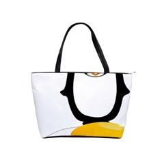 Linux Tux Pengion Oops Large Shoulder Bag