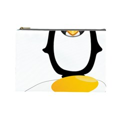 Linux Tux Pengion Oops Cosmetic Bag (large)