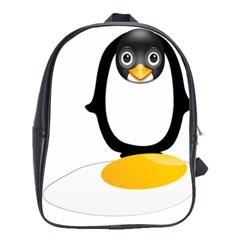 Linux Tux Pengion Oops School Bag (Large)