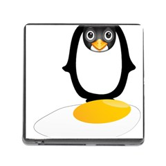 Linux Tux Pengion Oops Memory Card Reader with Storage (Square)