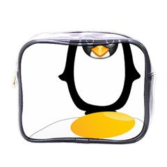 Linux Tux Pengion Oops Mini Travel Toiletry Bag (One Side)