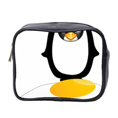 Linux Tux Pengion Oops Mini Travel Toiletry Bag (Two Sides)