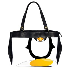 Linux Tux Pengion Oops Oversize Office Handbag (Two Sides)