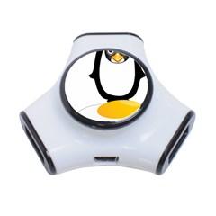 Linux Tux Pengion Oops 3 Port USB Hub
