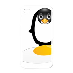 Linux Tux Pengion Oops Apple Iphone 4 Case (white)