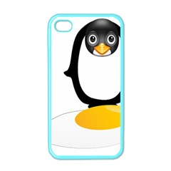 Linux Tux Pengion Oops Apple Iphone 4 Case (color)