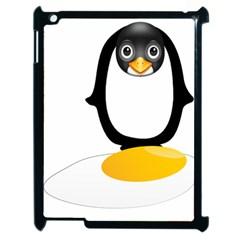 Linux Tux Pengion Oops Apple iPad 2 Case (Black)