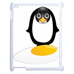 Linux Tux Pengion Oops Apple iPad 2 Case (White)