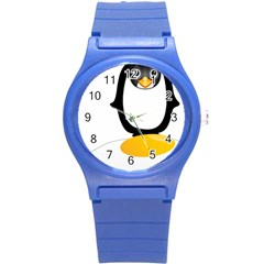 Linux Tux Pengion Oops Plastic Sport Watch (Small)
