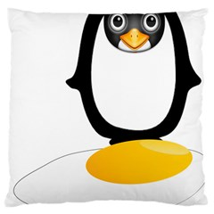 Linux Tux Pengion Oops Large Cushion Case (Single Sided)